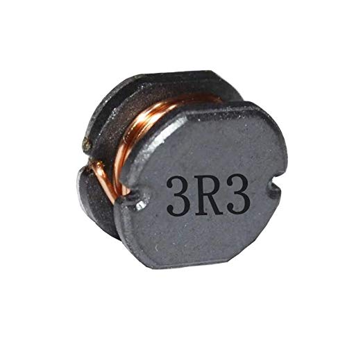 Inductor Chip - 20ea 2.2uH 3.3uH 4.7uH 6.8uH chip Inductor Wire Winding Inductor 7X7X5mm 0.28''X0.28''X0.2'' CD75 Surface Mount Inductor(3.3UH)