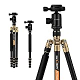K&F Concept 65 inch Aluminium Camera Tripod and Monopod with 360 Degree Quick Release Ball Head for DSLR Camera Canon Nikon Petax Sony