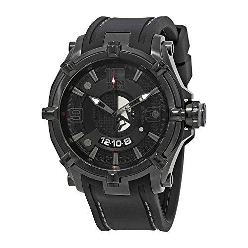 Elini Barokas Men's ELINI-20000-BB-01-GRYA Fortitudo Duo Analog Display Swiss Quartz Black Watch