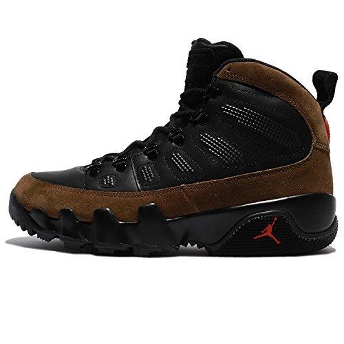 Air Jordan Basketball Boots (Jordan Men's Air 9 Retro Boot NRG, Black/True Red-Light Olive, 10 M US)