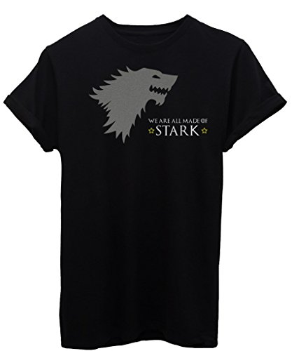 T-Shirt WE ARE ALL MADE OF STARK - DIVERTENTE - by iMage - Uomo-M-Nera