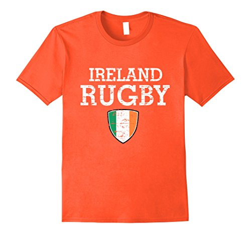 Orange Irish Flag (Mens Ireland Flag Rugby T-shirt XL Orange)