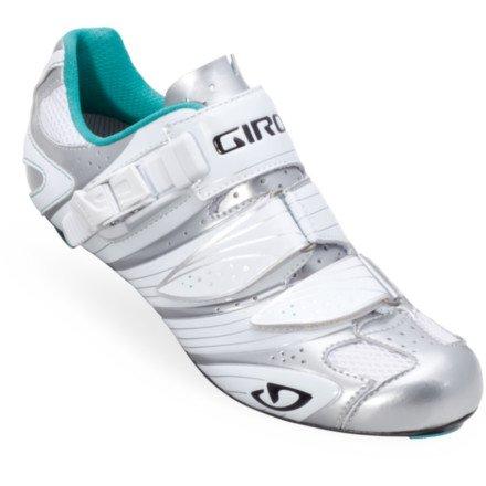 Giro 2012 Women's Factress Road Bike Shoes (Chrome/White/Teal - 42.5)