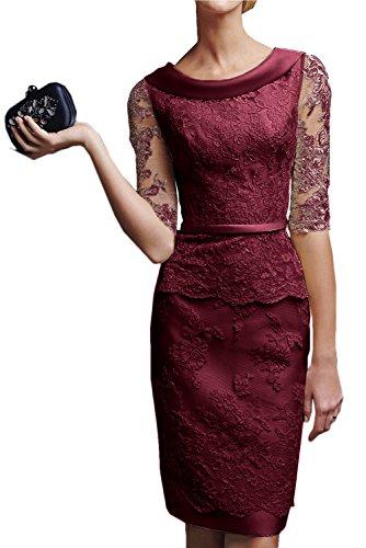 mujer Vestido para Topkleider borgoña Estuche Hgnww81x