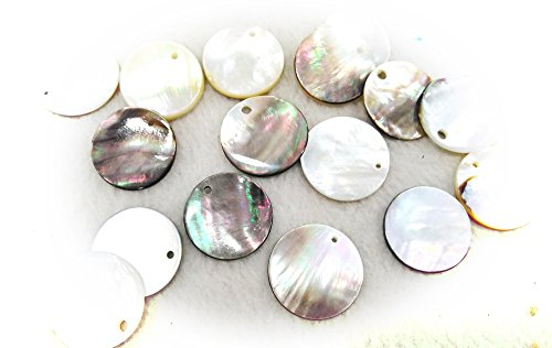 - 25\30\40mm Rainbow black shell Rectangle White Shell Loose Gemstone, Calibrated Cabochons, Ablong coin oval teardrop shell pendant 6pcs (30mm)