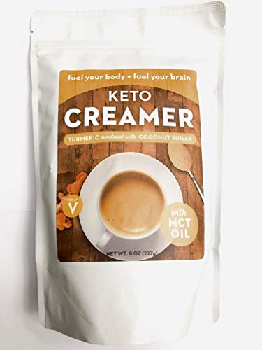 Keto Creamer Turmeric Sweetened with Coconut Sugar, with MCT Oil, 8 oz.