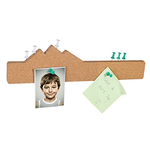 (Cork Tiles,Cork Bulletin Board Cork Board Tiles with Adhesive Cork Board Bulletin Board Mountain Shape Corkboard and 36pcs Push Pins for Photos,Pictures,Notes,Memos,Art Paper)