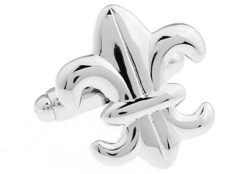 LBFEEL Novelty Fleur De Lis Cufflinks for Men with a Gift (New Orleans Saints Cufflinks)