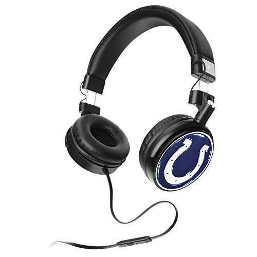 Prime Brands Group NFL Over The Ear Stereo Headphones (Indianapolis Colts) (Indianapolis Colts Earbuds)