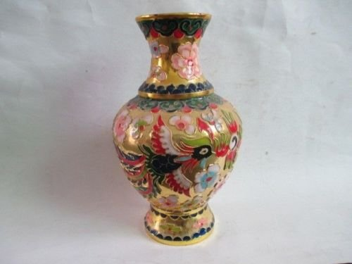 BeesClover 7.88 inch/Beautiful Chinese Collected Cloisonne Dragon and Phoenix vase Show
