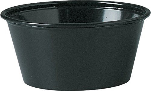 Solo Plastic 3.25 oz Black Portion Container for Food, Beverages, Crafts (Pack of 250)