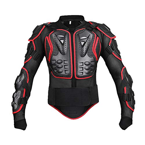 (Wolfbike Sport Jacket Motorcycle Racing Body Protective Armor Protection Coverage (Red Sport Jacket, Medium))