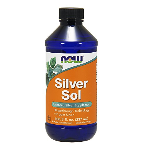 NOW Silver Sol 10 PPM Liquid, 8-Ounce