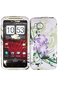 HTC 6425 Rezound / Vigor Graphic Case - Green Lily (Package include a HandHelditems Sketch Stylus Pen)