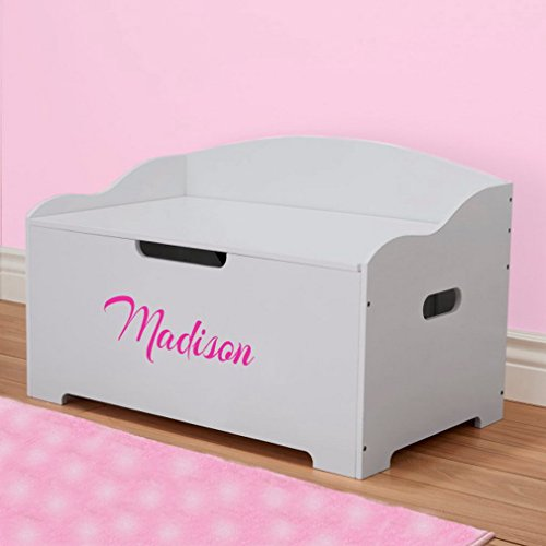 DIBSIES Personalization Station Personalized Modern Expressions Toy Box (Gray Signature Series Girls) ()