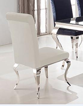 silla de comedor luca diseo barroco terciopelo plstico plstico color blanco silla comedor barroco comedor