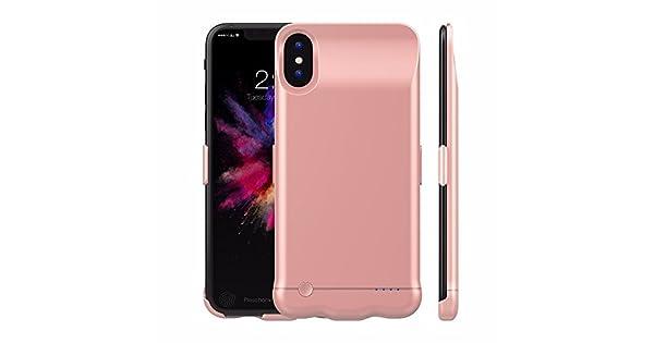 Amazon.com: iPhone X carcasa de batería, 5200 mAh batería ...