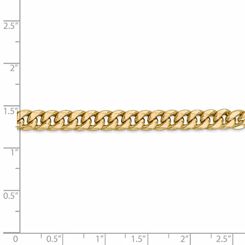 ICE CARATS 14k Yellow Gold 6mm Miami Cuban Bracelet Chain 8 Inch Fine Jewelry Gift Set For Women Heart by ICE CARATS (Image #5)