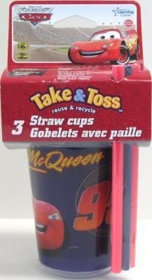 Cup Cars Take&Toss Sippy 3Pk 18 pcs sku# 905503MA by Learning Curve (Image #1)