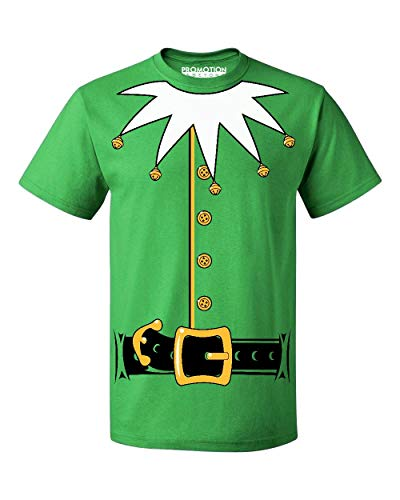 Promotion & Beyond Santa's Helper Elf Christmas Costume Jumbo Print Men's T-Shirt, XL, Green]()