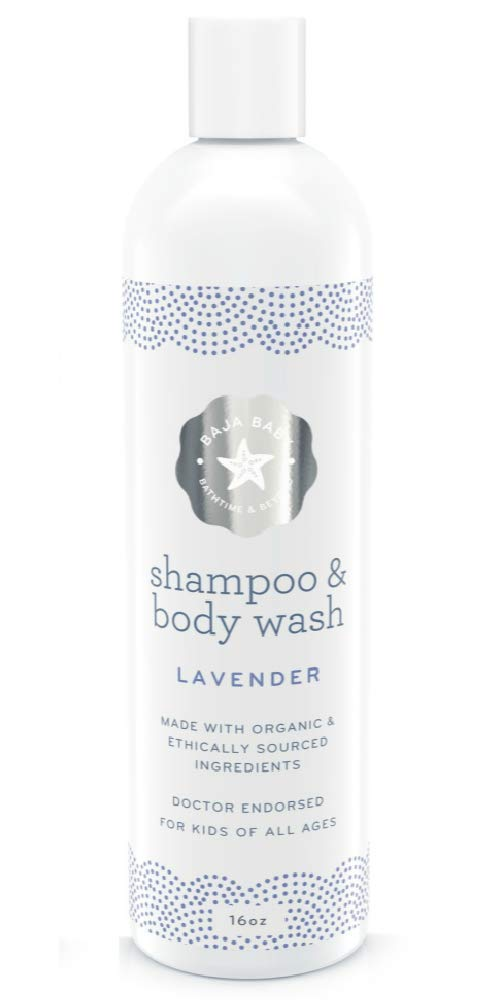 Baja Baby Shampoo and Body Wash Lavender - An Organic Kids Shampoo with Plant-based Ingredients - Kids Body Wash For All Ages - Organic Body Wash Gently Scented with Essential Oils