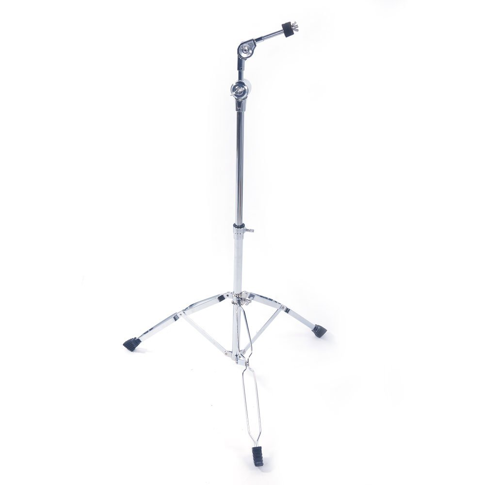 Glarry Cymbal Boom Stand Drum Hardware Arm Mount Holder Adapter Percussion Silver