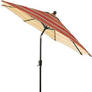 Home&Garden Spice Stripe Patio Umbrella.