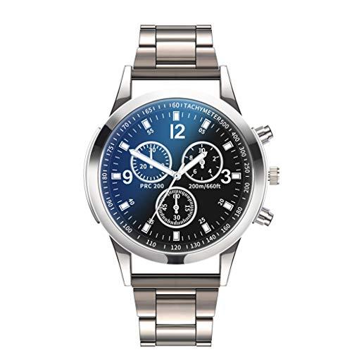 LA GUAPA Men's Quartz Watches, Watch Quartz, Stainless Steel Dial Casual Bracele Watch,Stainless Steel Chronograph Watch (B)