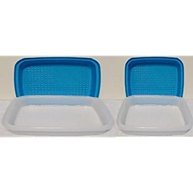 Tupperware Season-Serve Container Reg & Jr Marinade Set Blue
