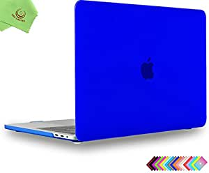 UESWILL MacBook Pro 16 inch Case 2019, Smooth Matte Hard Shell Case Cover for MacBook Pro 16 inch with Touch Bar/USB-C, Model A2141 + Microfibre Cleaning Cloth, Royal Blue