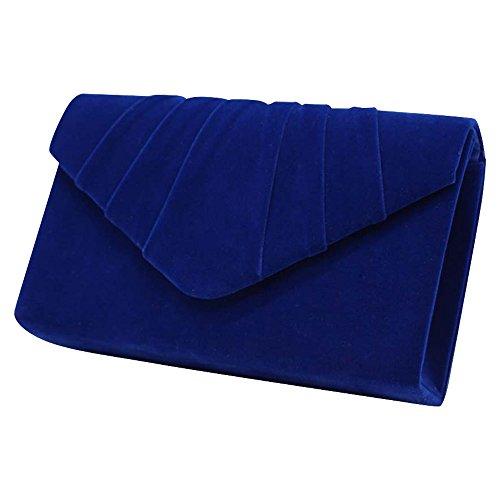 15913d6afbc75 Wocharm Brand New Luxury Womens Ladies Pleated Suede velvet Clutch ...