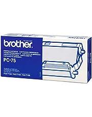Cinta de transferencia térmica 1Rollo Brother PC de 75, color negro
