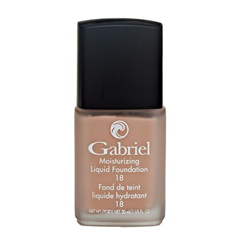 Gabriel Cosmetics, Foundation Liquid (Natural Beige), 1 Fl Oz, Moisturizing, Natural, Paraben Free, Vegan, Gluten-free, Cruelty-free, Non GMO, Infused with Vitamins A & E, Full coverage.