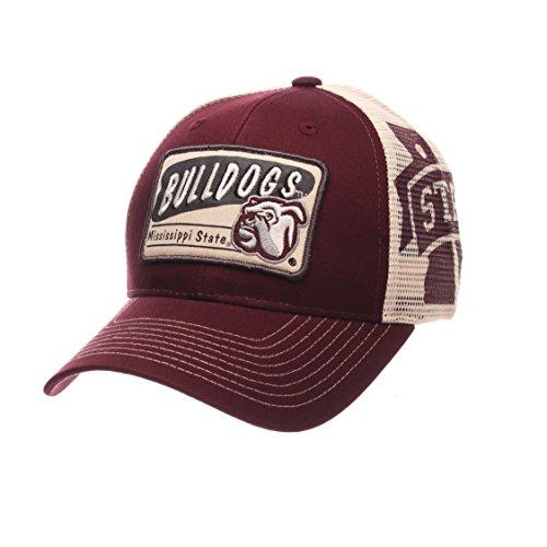 NCAA Mississippi State Bulldogs Men's Interstate Trucker Cap, Adjustable, - Mississippi Baseball Bulldogs State