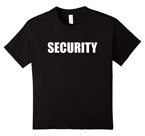 Color Guard Costumes Uniforms (Kids Funny Security Guard Halloween Event Staff Costume Shirt 12 Black)
