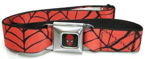 Marvel The Amazing Spiderman Seatbelt Belt - Spiderweb Red/Black