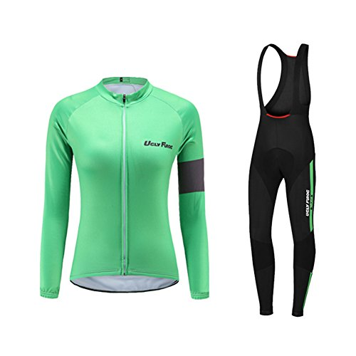 Uglyfrog Newest Long Sleeve Cycling Jersey + Bib Tight Sets with Gel Pad  Women Outdoor Sports 51e9b27e8