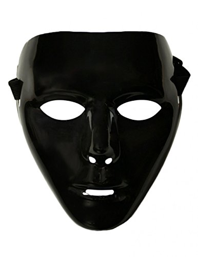 Elite Costumes Inc (Adults Female Blank Black Halloween Face Mask Facemask Costume Accessory)