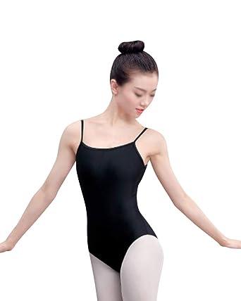 f24a73440677 Womens Sling Open Back Dance Gymnastics Leotard Shape Costumes Ballet  Practice Clothes Black S