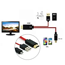 Antoble MHL Micro USB to 1080P HDMI HDTV Adapter Cable For HTC LG SONY MEIZU Cellphpne