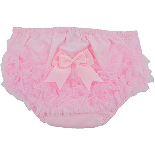 Frill Back Knickers Nappy Cover Pants Soft Touch Baby Girls Frilly Pants with Tutu Lace Back