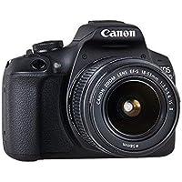 """Canon EOS 2000D - Cámara réflex de 24.1 MP (CMOS, Escena inteligente automática, 9 puntos AF, filtros creativos, EOS Movie, Full HD LCD 3"""", WiFi/NFC) negro - Kit con objetivo EF-S 18-55mm IS II"""