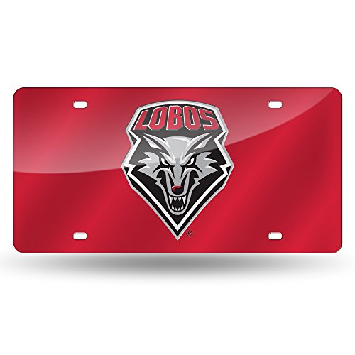 NCAA New Mexico Lobos Laser Inlaid Metal License Plate Tag