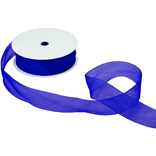 Jillson & Roberts Organdy Sheer Ribbon, 1 1/2'' Wide x 100 Yards, Royal by Jillson Roberts