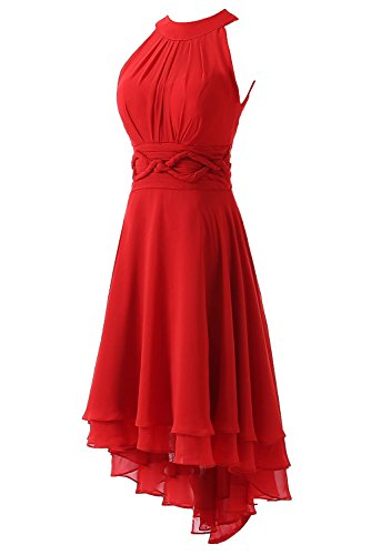 Homecoming Chiffon Short DYS Emerald Women's Prom Hi Lo Dresses Bridesmaid Dress C0qwZ