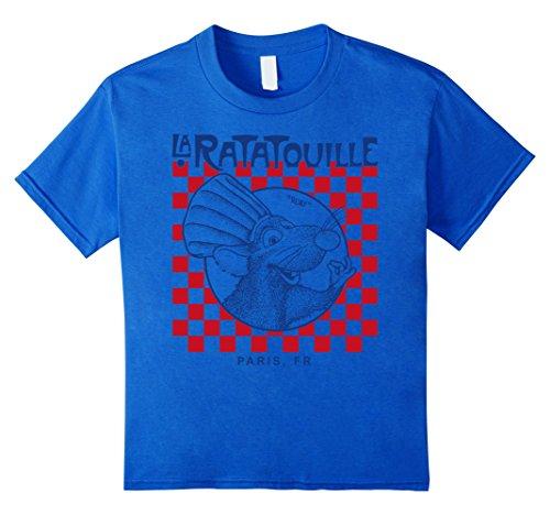 Kids Disney Pixar Ratatouille Remy Paris Checkerboard T-Shirt 12 Royal Blue (Blue Checkerboard Royal)