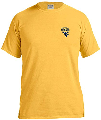 NCAA West Virginia Mountaineers Adult Unisex NCAA Limited Edition Comfort Color Short sleeve T-Shirt,XL,Citrus