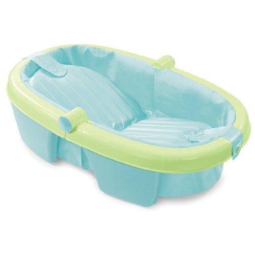 Summer Infant Fold-Away Baby Bath, Green Fresh Bathe Safety Bodywash Bathroom Body Wash Infant