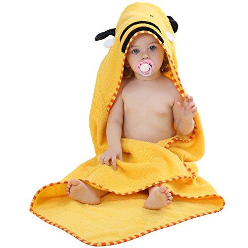 MICHLEY Baumwoll-Tier-Stil Kapuze Babytuch 0-6 jahre Yellow