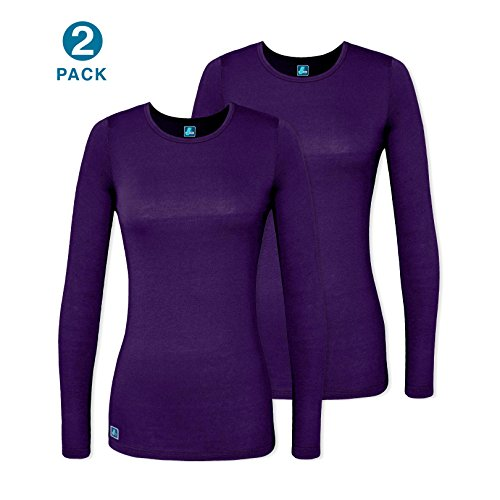 Adar 2 Pack Women's Comfort Long Sleeve T-Shirt/Underscrub Tee - 2902 -...
